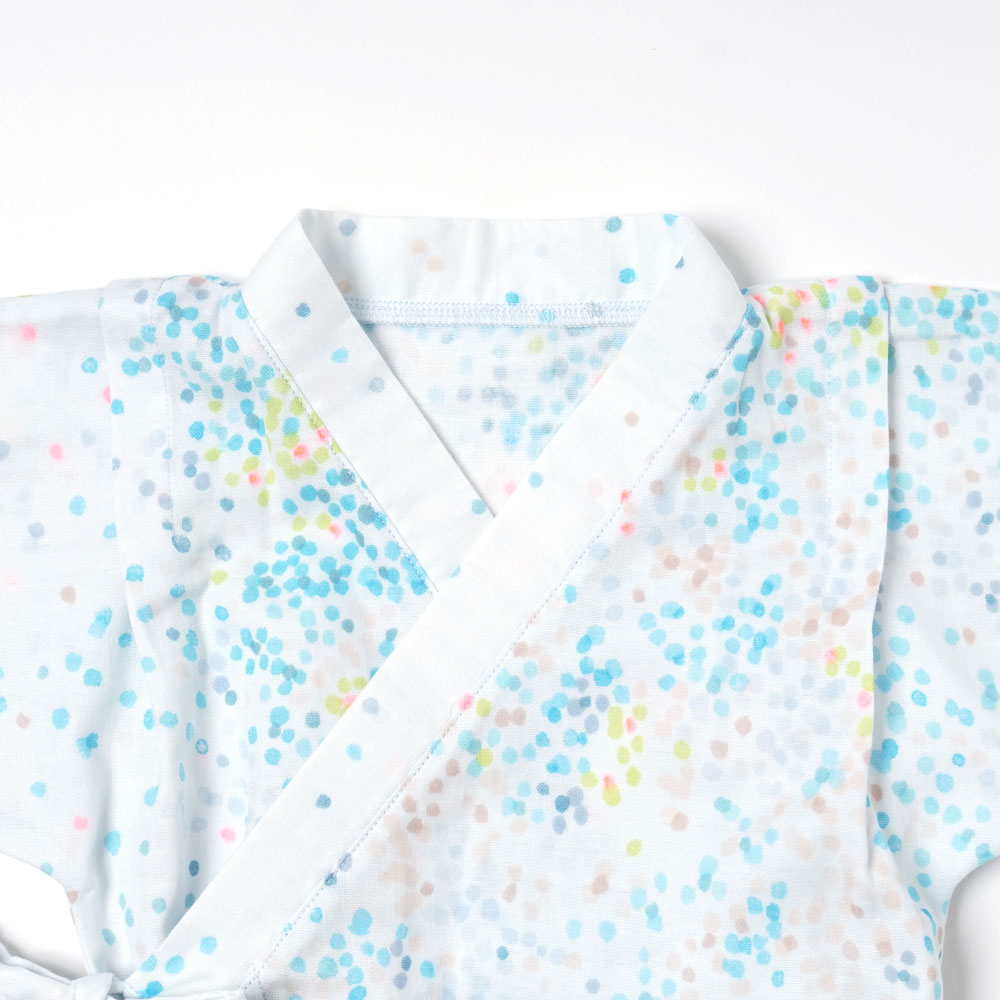 じんべい2wayドレス(2wayオール) ブルー 50-70cm / NAOMI ITO