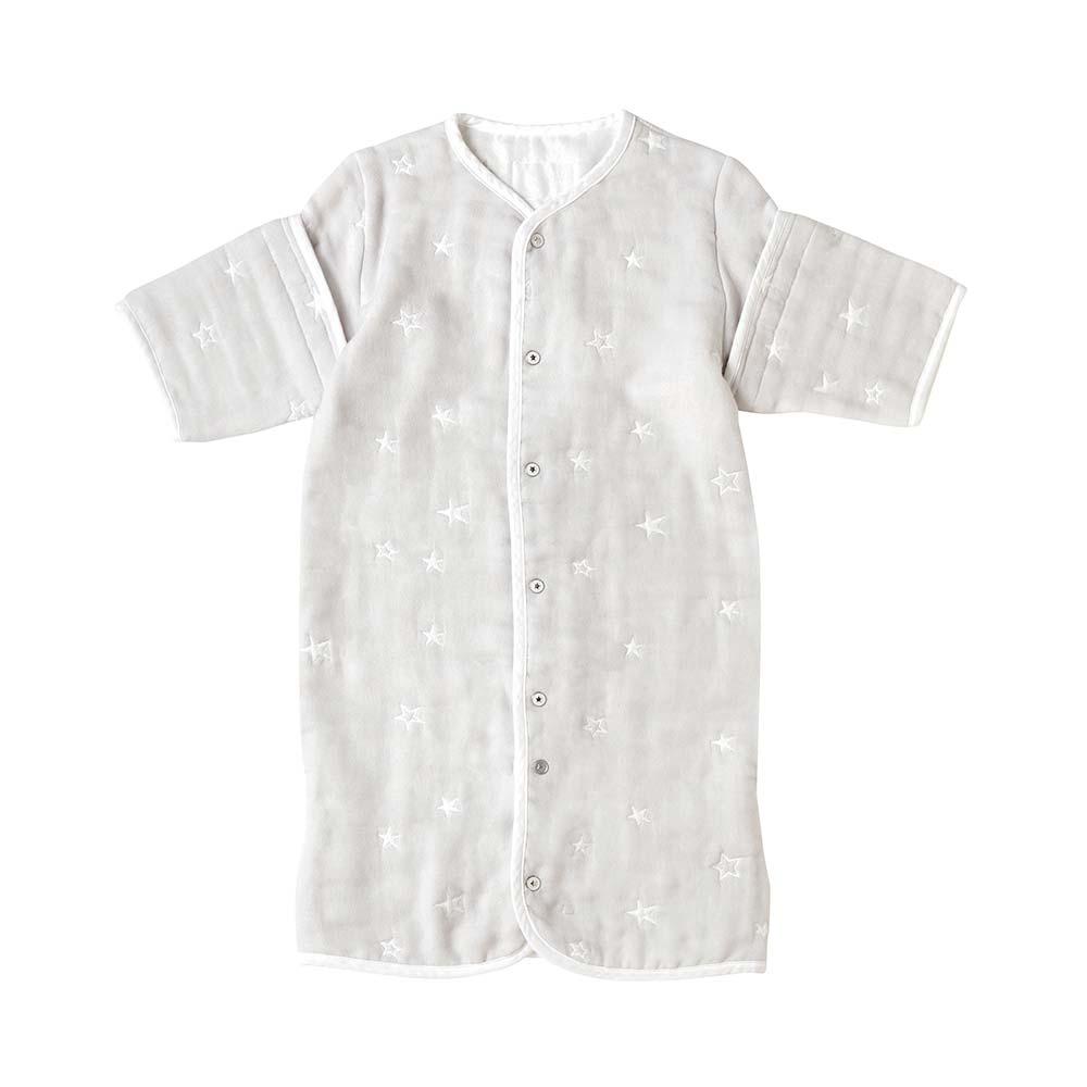 グレー 6wayスリーパー ふくふくガーゼ(6重ガーゼ)  / 10mois(ディモワ) / 名入れ刺繍可