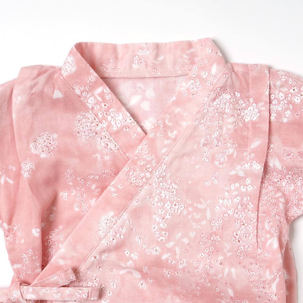 じんべい袖フリル2wayドレス(2wayオール) ピンク 50-70cm / NAOMI ITO