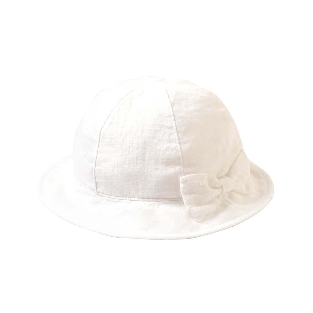 リボンチューリップハット オフホワイト 頭囲48-50cm・50-52cm / Hoppetta