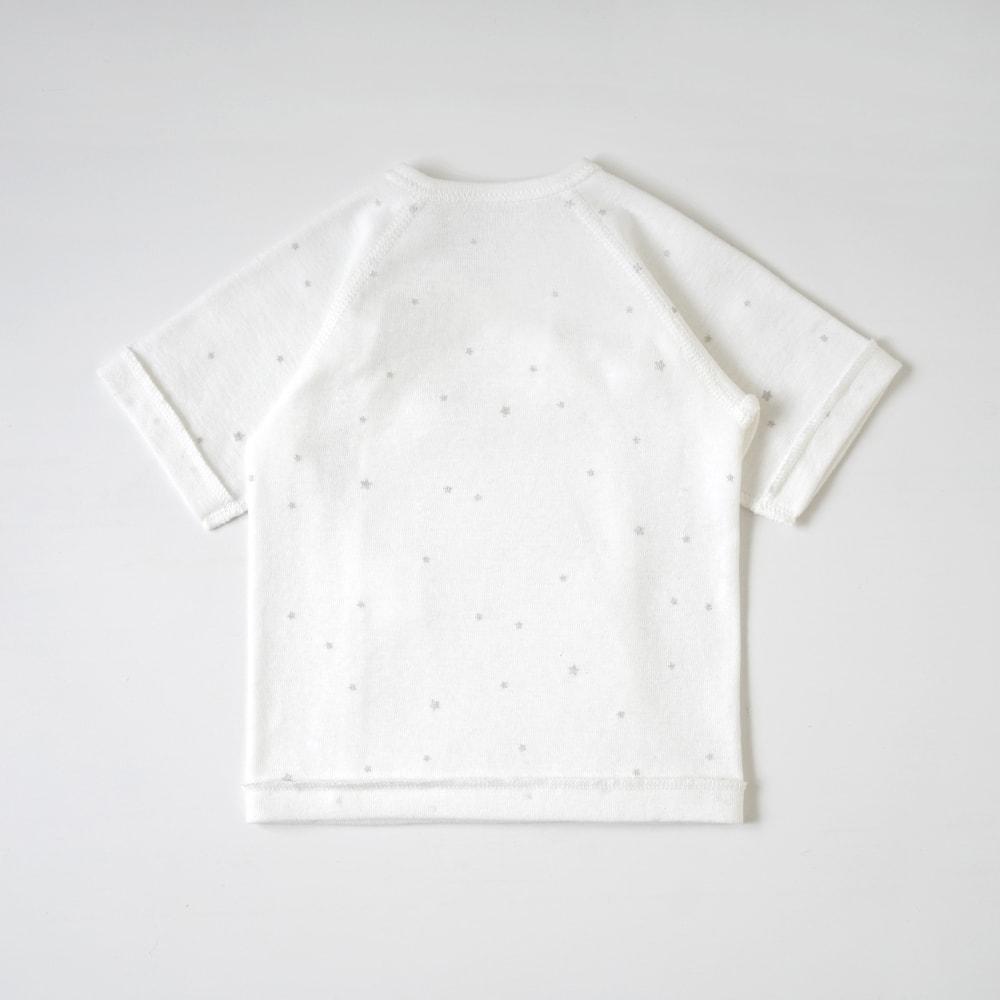 リコットン短肌着 ホワイト プリミー(45cm) / 10mois(ディモワ)