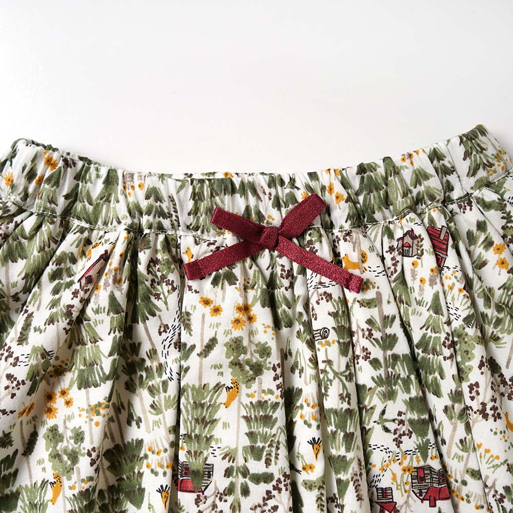 forest スカート オフホワイト 80-90cm・90-100cm / Hoppetta