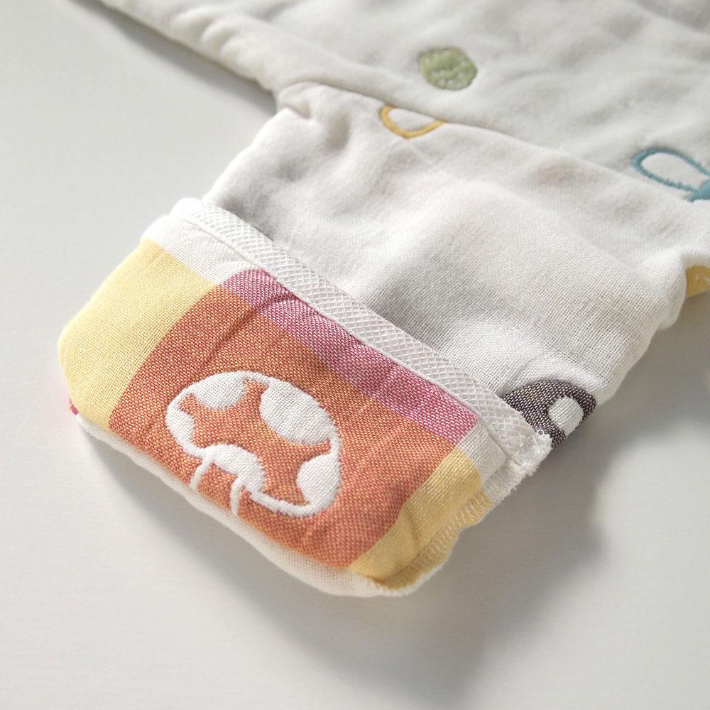 シャンピニオン おくるみスリーパー ふくふくガーゼ(6重ガーゼ) / Hoppetta / 名入れ刺繍可