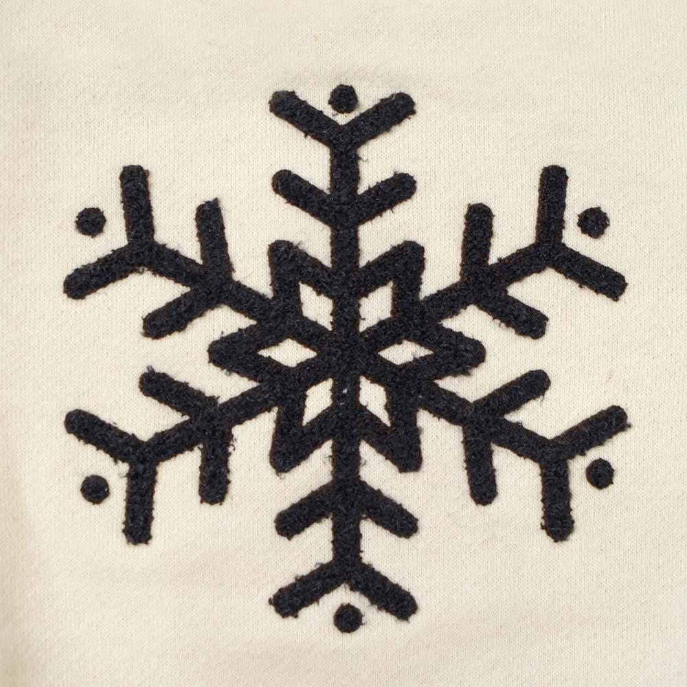 snow flake トレーナー クリーム 80cm・90cm / Hoppetta