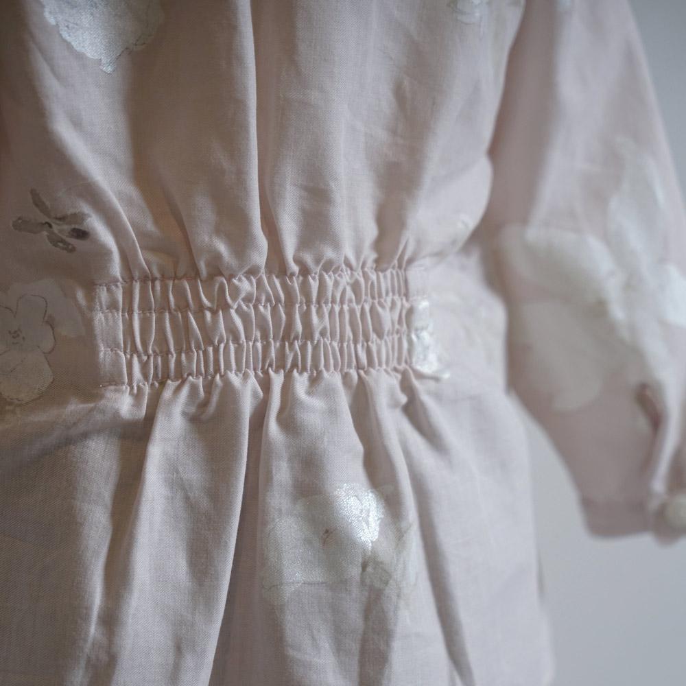 【9月中旬入荷予定】ギャザーブラウス ピンク 70-80cm・80-90cm・90-100cm / Hommage de NAOMI ITO