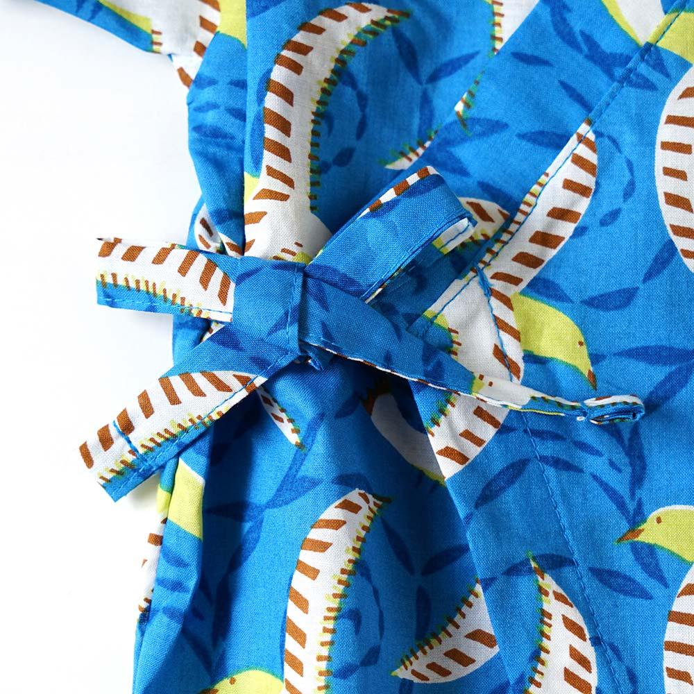 じんべいオール ブルー 70〜80cm / Hoppetta