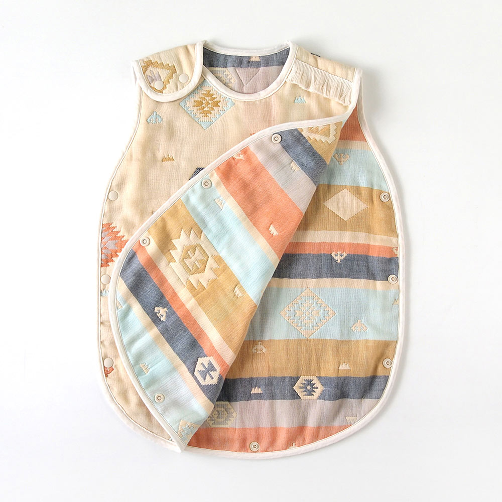 トーテム スリーパー ベビーサイズ  ふくふくガーゼ(6重ガーゼ) / BOBO / 名入れ刺繍可