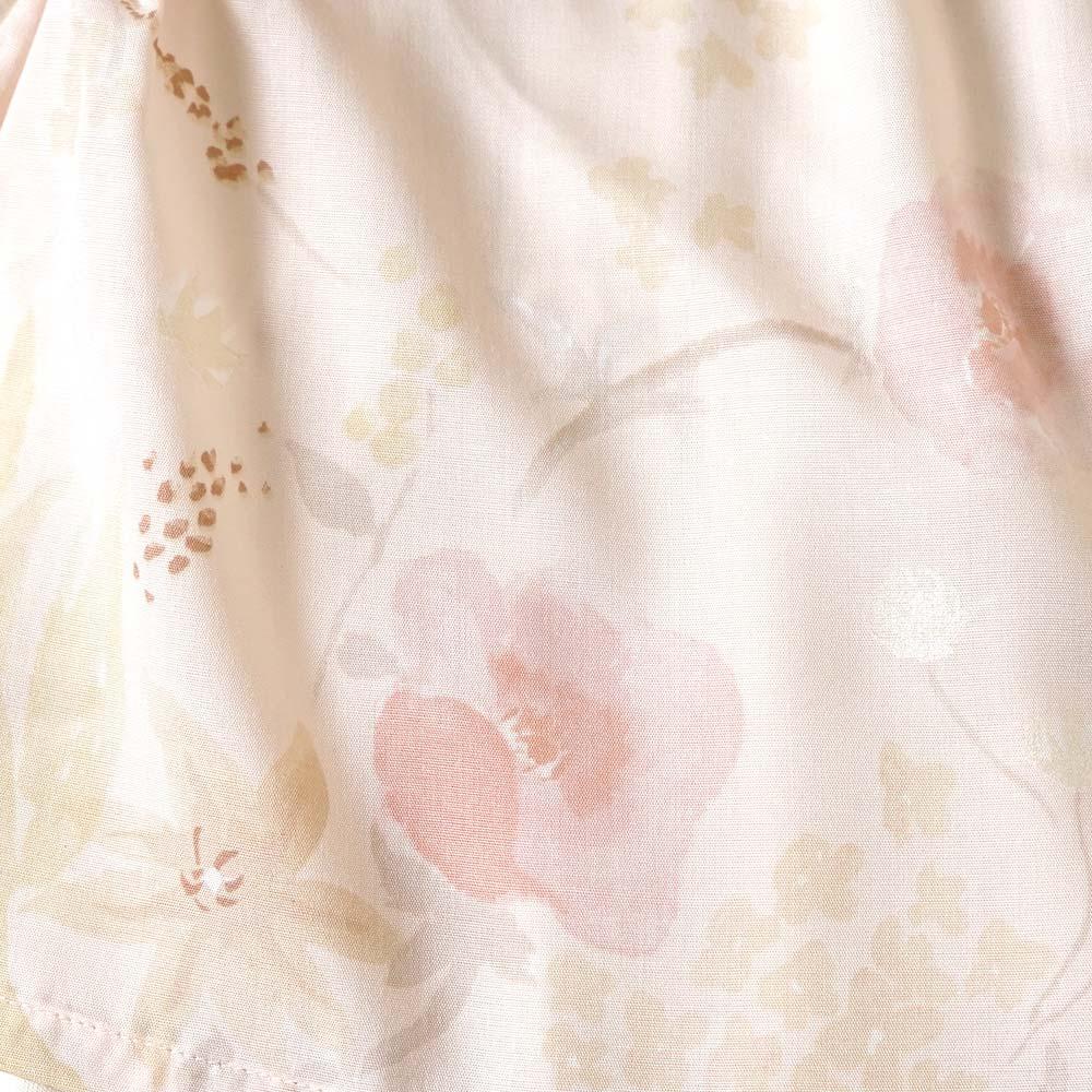 女の子レイヤードショートオール ライトピンク 70cm・80cm / NAOMI ITO