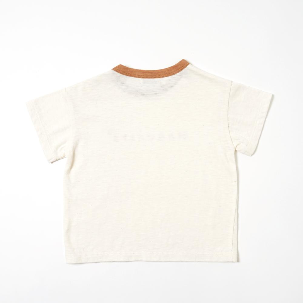 ロゴフロッキーTシャツ クリーム 80cm・90cm・100cm / Hoppetta