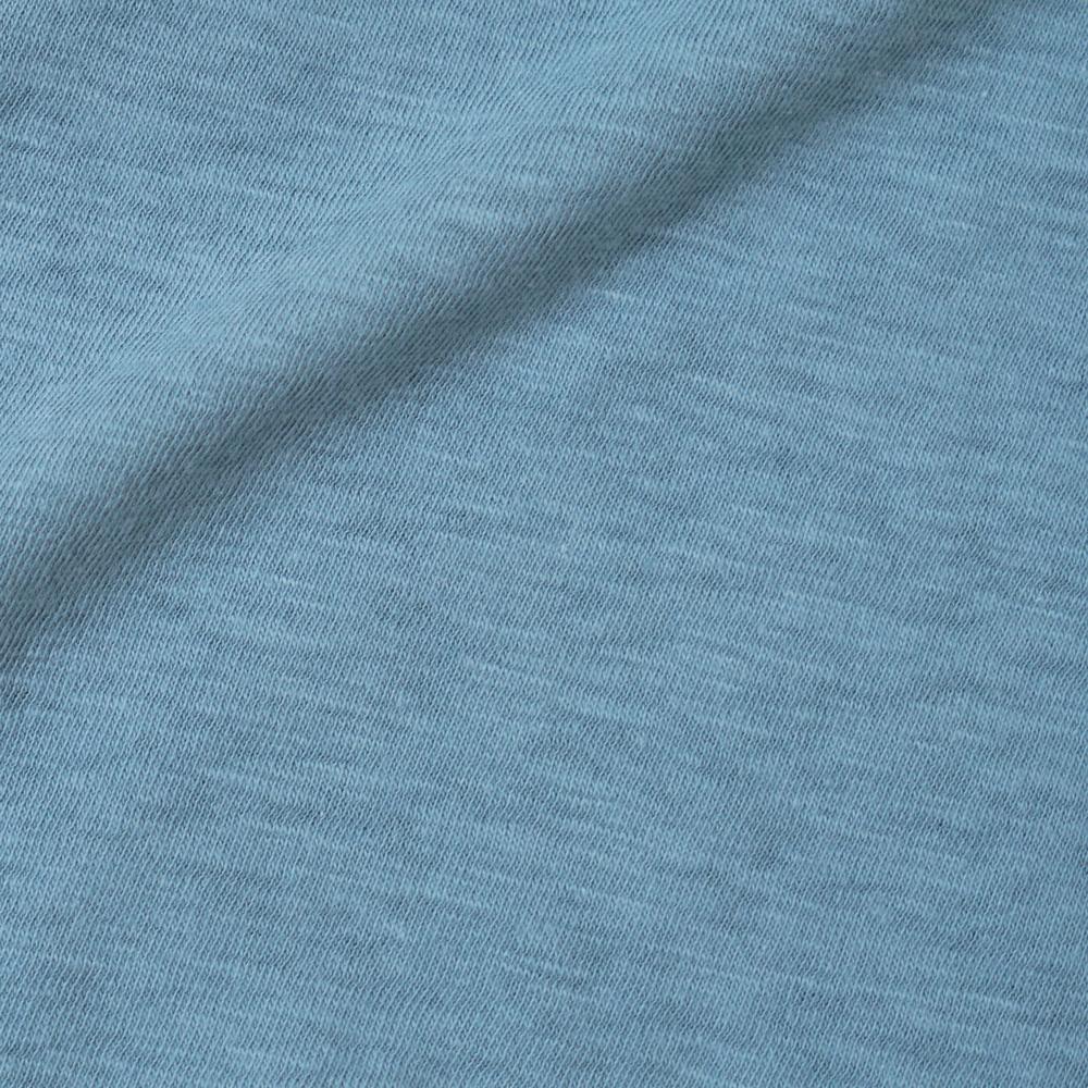 ロゴフロッキーTシャツ サックス 80cm・90cm・100cm / Hoppetta
