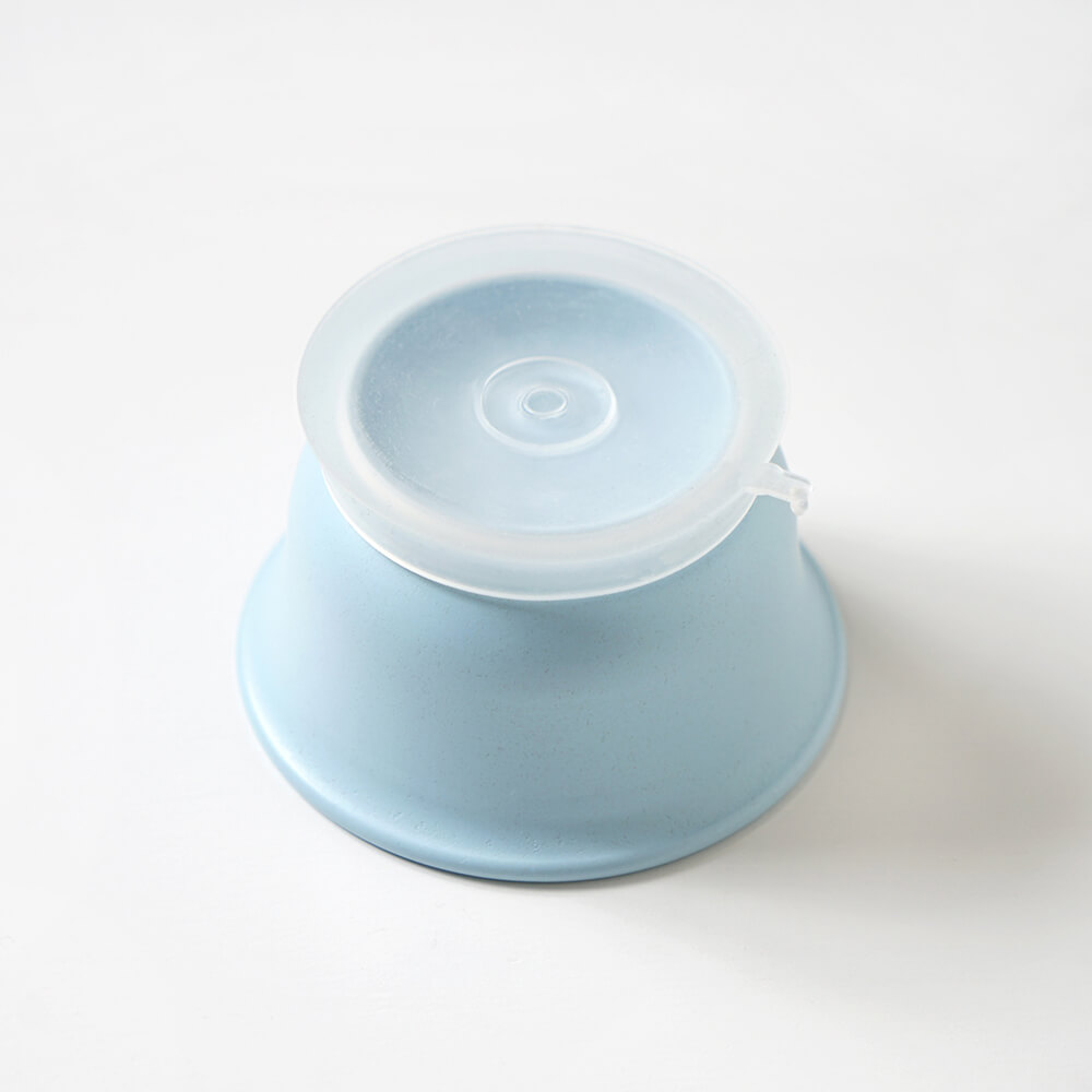 帆布ギフトBAG お食事セット ブルー / 10mois / 出産祝い / 名入れ刺繍可