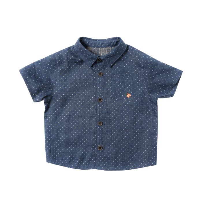 dotシャツ ブルー 80cm・90cm・100cm / Hoppetta plus