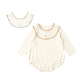 guri(ぐり) オーガニックコットン スタイ付き長袖ボディ キナリ 70cm・80cm / Hoppetta plus