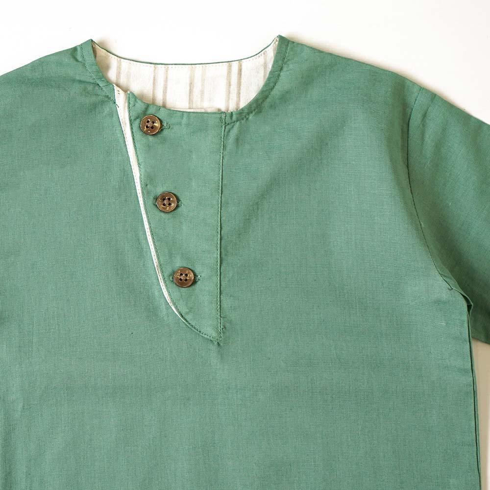 ボイルワッシャーシャツ グリーン 80cm・90cm・100cm / NAOMI ITO