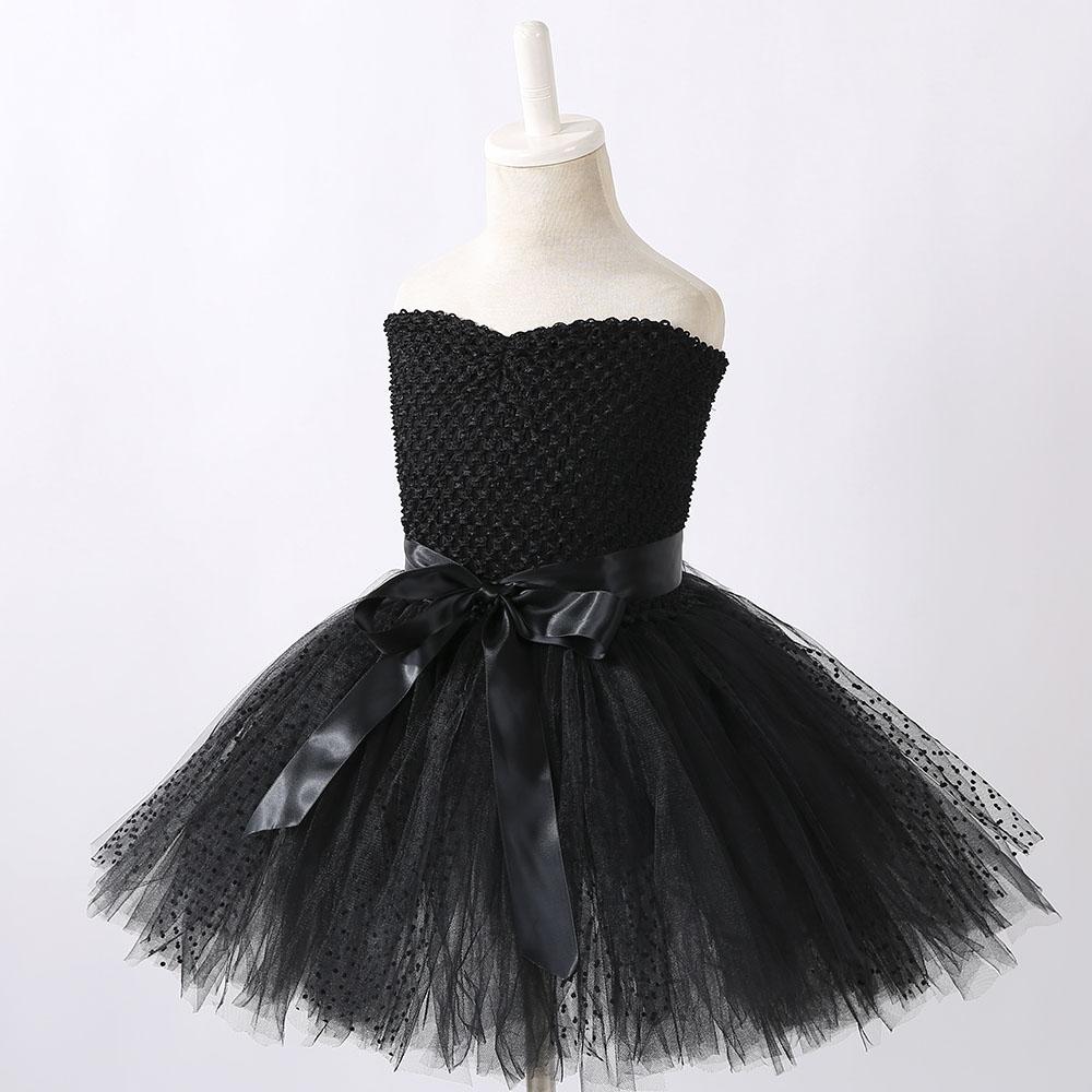 上質シリーズ ブラックドレス チュチュドレス  2才〜8歳 裏地付