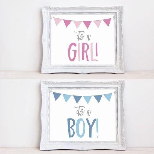 ≪データ配信≫マタニティーフォト  ニューボーンフォト It's A BOY & GIRL パステルセット (縦・横・男女4枚のデータ)