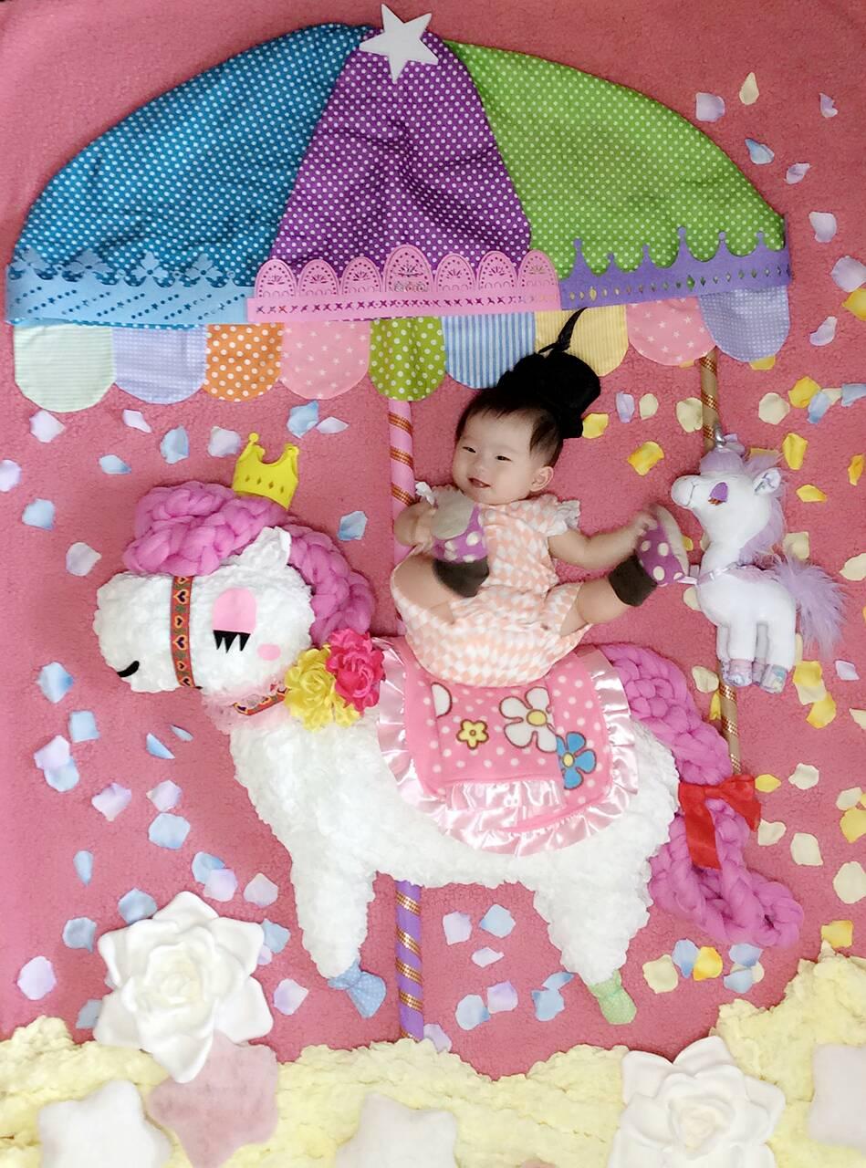 新生児撮影用クッションニットロープ4M選べる6色