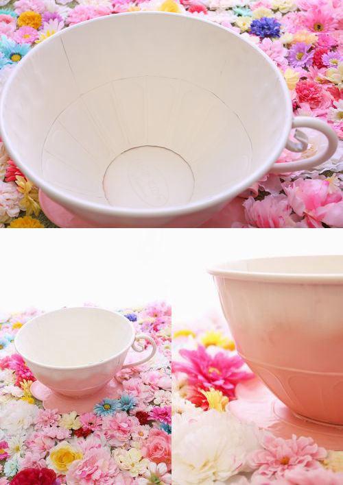 ブリキ製 BIG ティーカップ 撮影小物 オブジェ●ノベルティー対象外●送料無料合算不可●単体で精算お願いします。