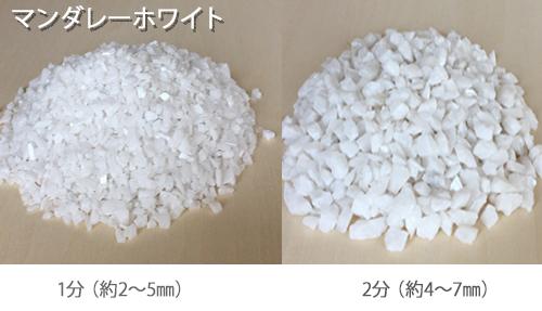 カラー砕石(小袋サイズ:900g) マンダレーホワイト 【送料無料】