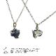 アイオライト 原石タンブルストーン ツヤあり ネックレス part2 SILVER925/真鍮 1点もの