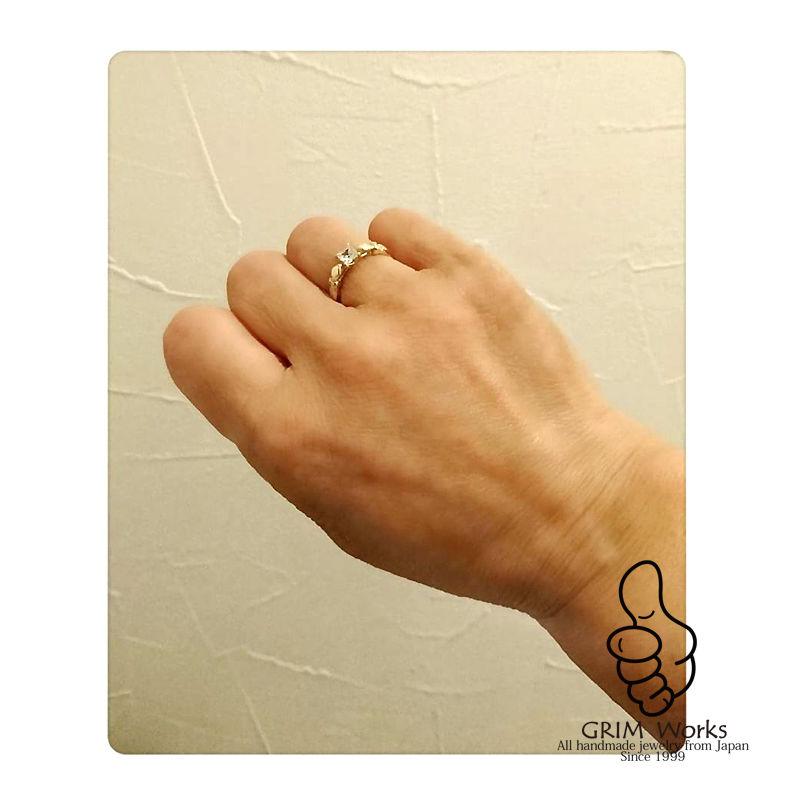 S/C RING SILVER925  サラリと優華なリングは曲と直。自身を主張した大人女性におすすめ