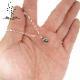 アパタイト原石タンブルストーンネックレス part1 SILVER925 1点もの 石あり  他にないオリジナルを日常に