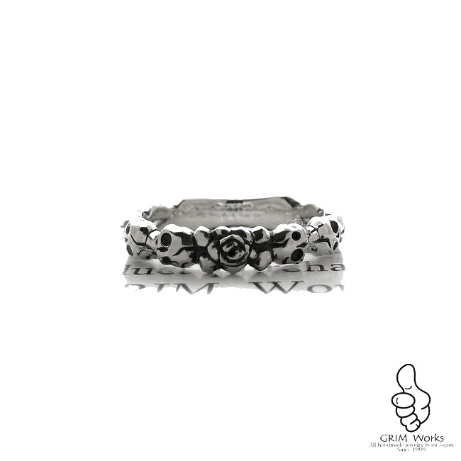 Rose&Skull 2013 リング 薔薇と骸骨 異端な組み合わせが人気のリングです★