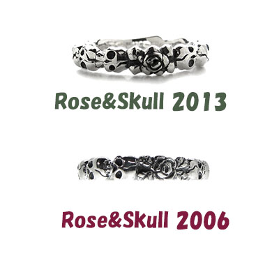 Rose&Skull 2006 薔薇とスカル リング 薔薇と骸骨 異端な組み合わせが人気のリングです★
