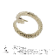 金のヘビ(K10GOLD各色) リング 縁起物として知られる「蛇」の力」貴方だけの宝石の目で運気もアップ!