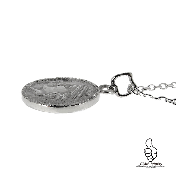 GRIM銀貨 太陽の恵み ペンダントトップ 石なし 他にないオリジナルを日常に。