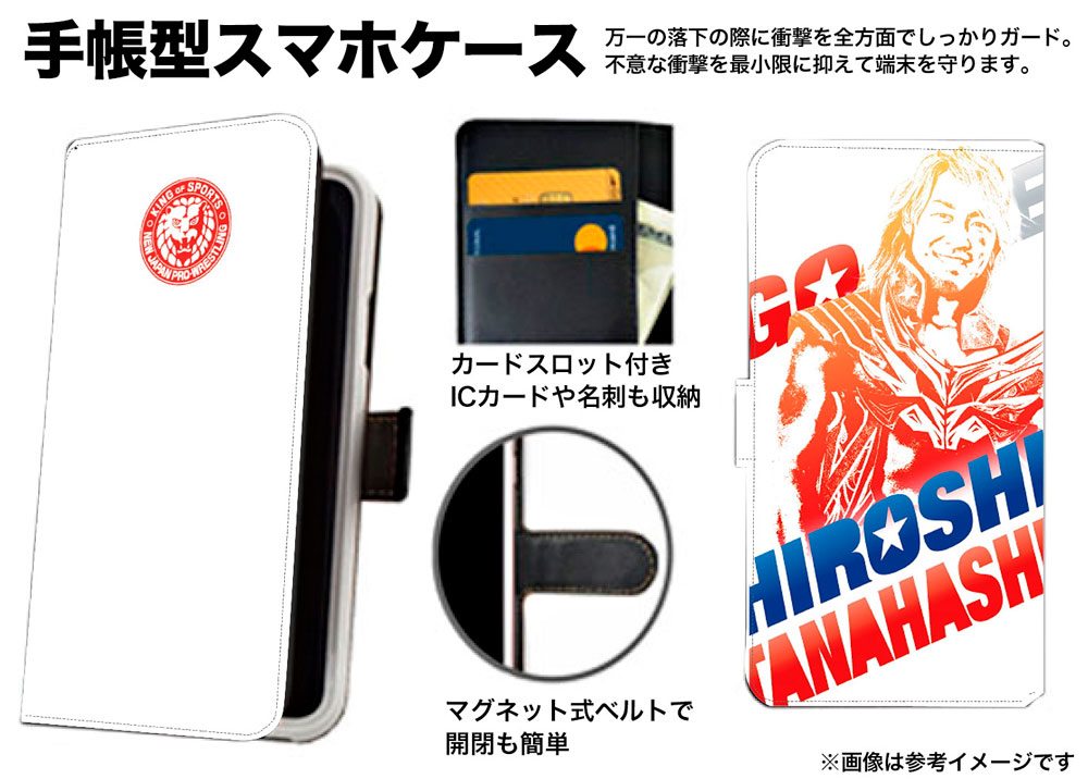 新日本プロレス スマートフォンケース KENTA[ピクチャー]2021 手帳型 マルチL