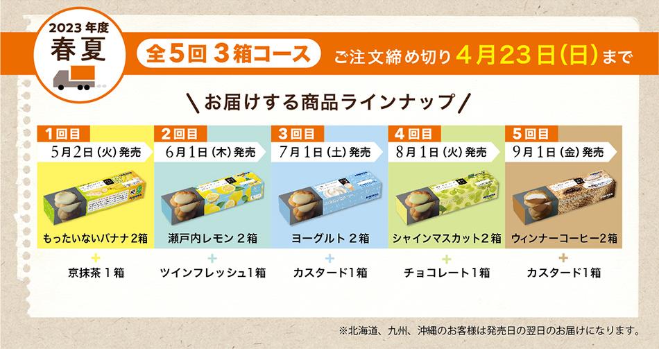 [全5回] シュークリーム定期便(前期) 〜3箱コース〜
