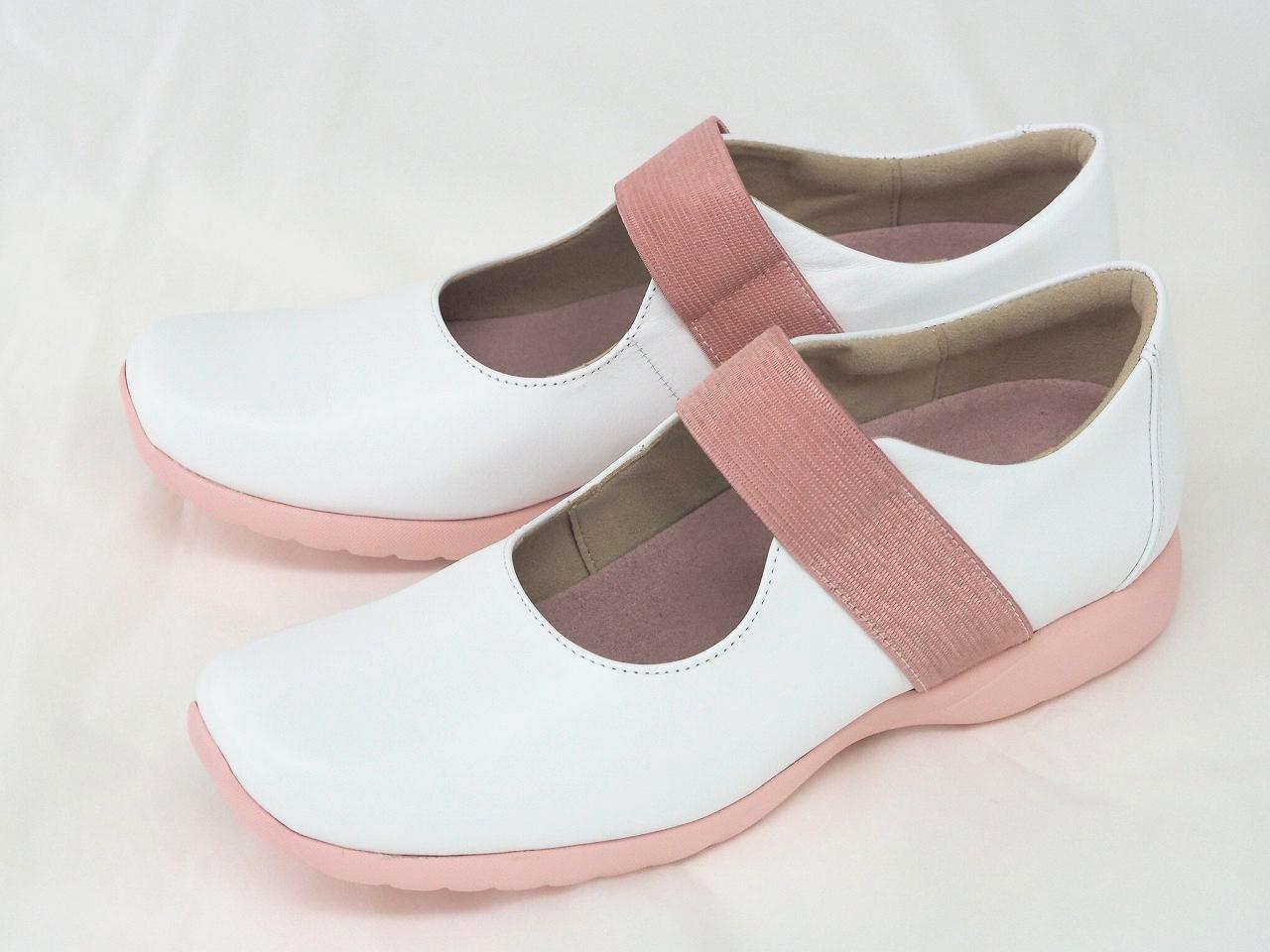 1034-3E幅 シロ/ピンク