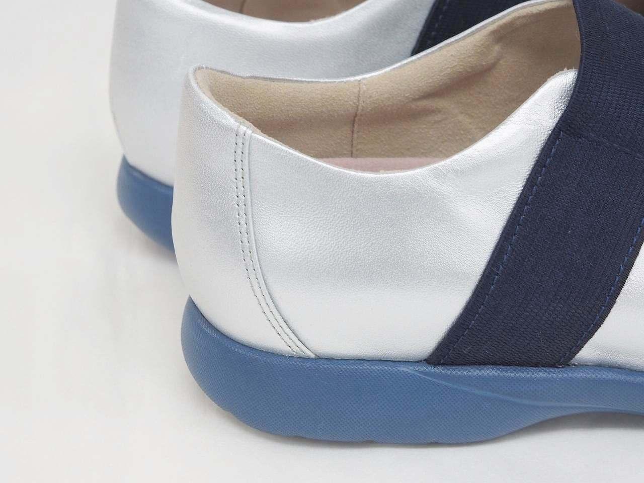 1034-3E幅 シルバー/ブルー