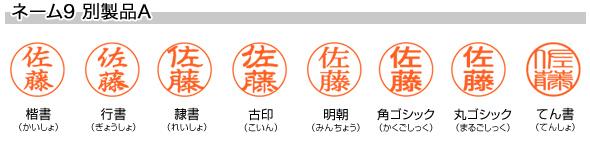 シヤチハタ ネーム9 別製品A ホワイトグリーン