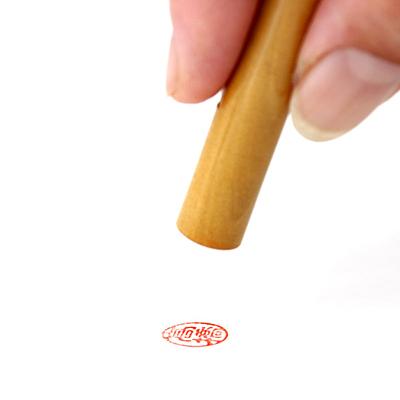 認印/薩摩本柘/13.5mm丸(本トカゲケース付)