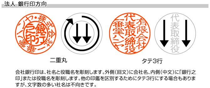 会社銀行印/牛角(色入)[天丸]/15mm丸