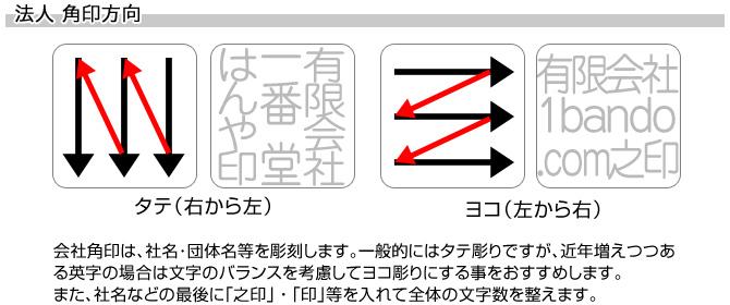 会社角印/本黒水牛(芯持)[天丸]/24mm角