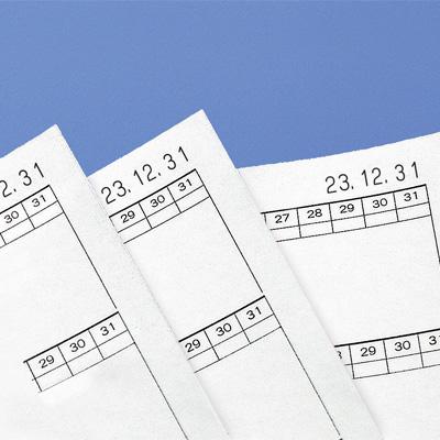 シヤチハタ 回転日付印/欧文日付 4号