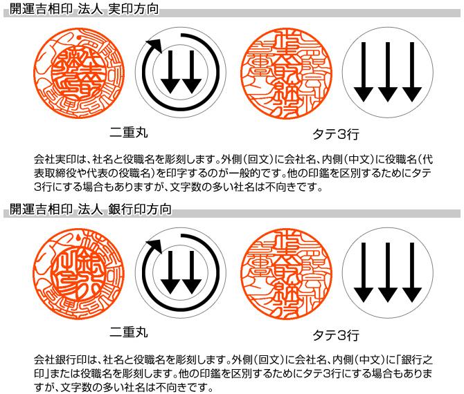 会社実印・銀行印セット/牛角(色入)【開運吉相印】/16.5・15/【各黒モミ皮ケース付】