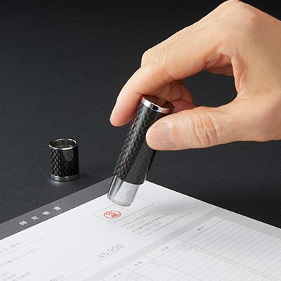 シヤチハタ ネーム9 Vivo carbon(カーボン) 別製品A ミラーブラック
