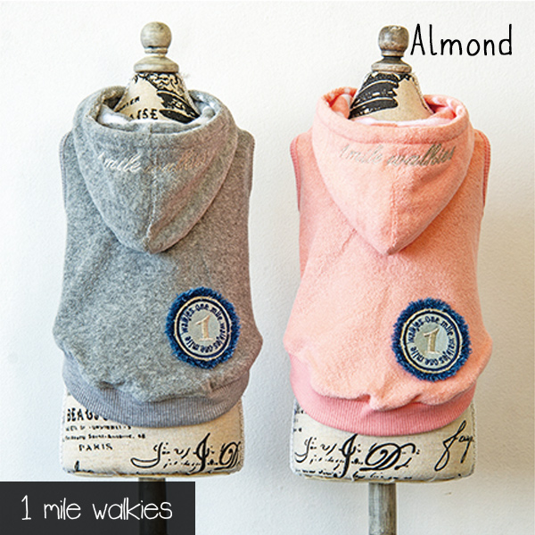 Almond(アーモンド)Pile Hooded Vest