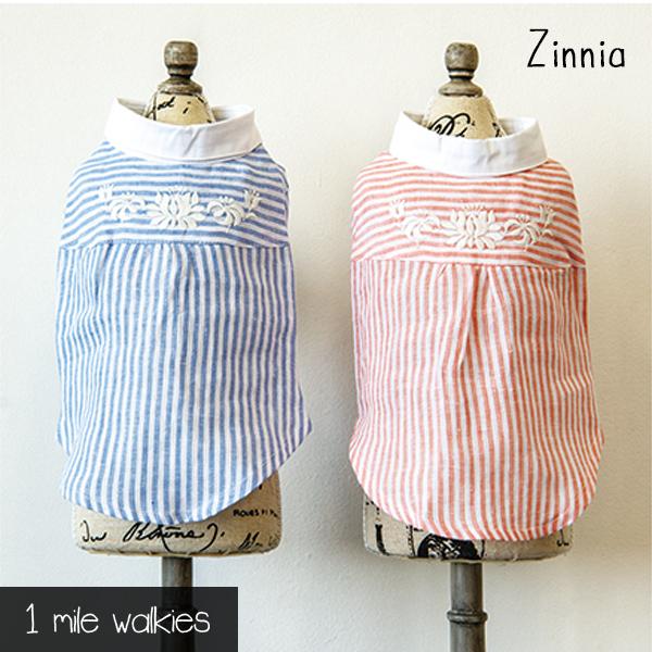 Zinnia(ジニア)Linen Embroidered Shirt