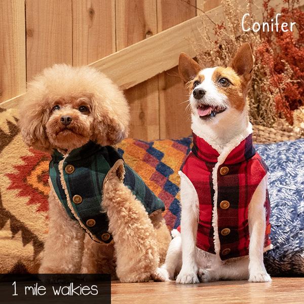 Conifer(コニファー)Check & Fur Vest