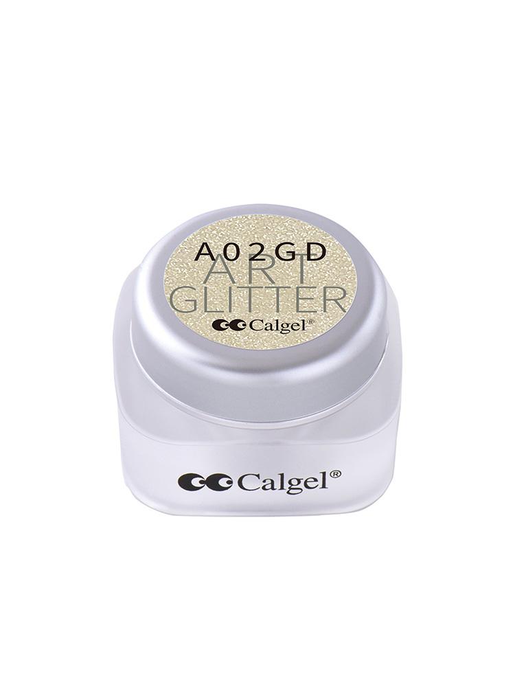 カラーカルジェルプラス アート グリッター プラチナゴールド1.5g CGA02GD