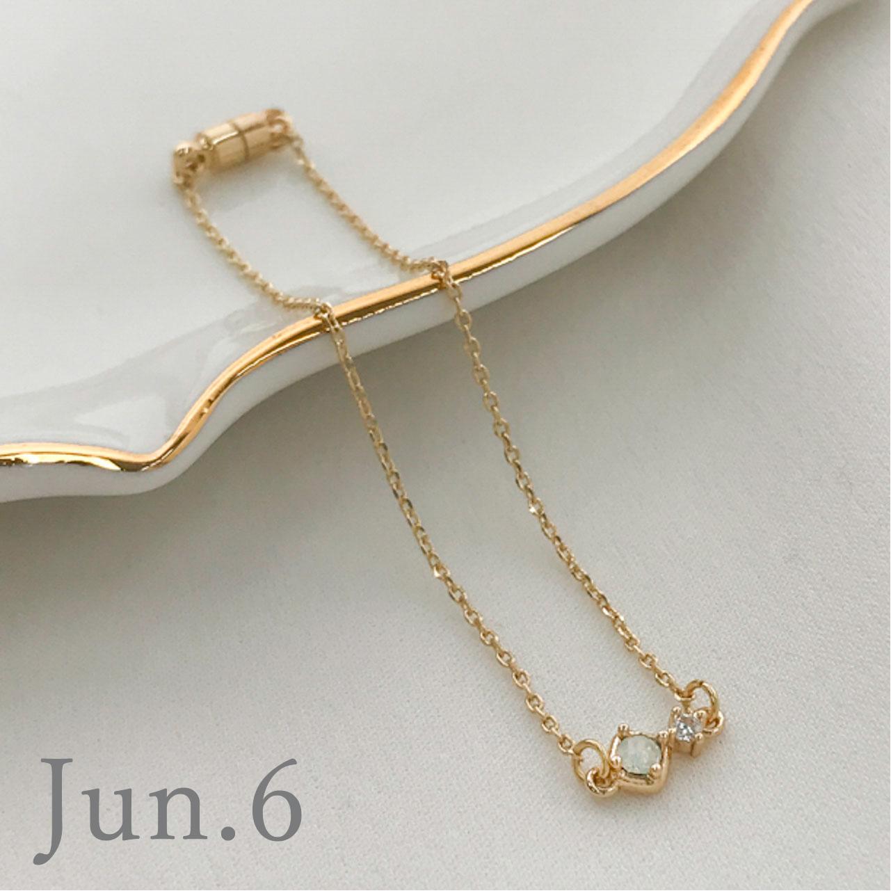 Birth month ブレスレット 1〜6月