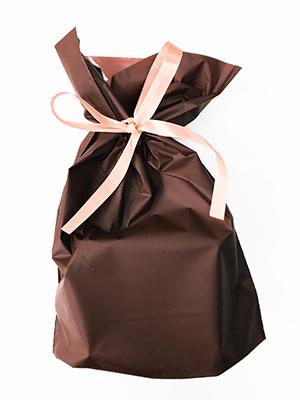 ギフト包装袋_ブラウン_М