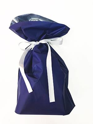 ギフト包装袋_ブルー_М
