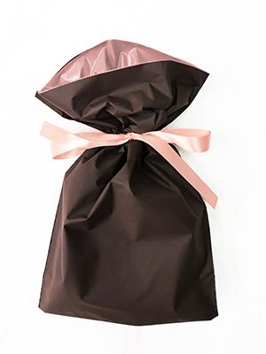 ギフト包装袋_ブラウン_S
