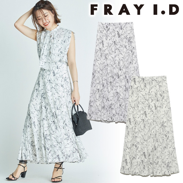 【SOLD OUT】\期間限定10%OFF/FRAY I.D フレイアイディー/プリントナロースカート FWFS212045